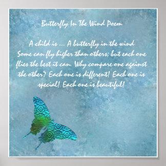 Schmetterling im Wind Poster