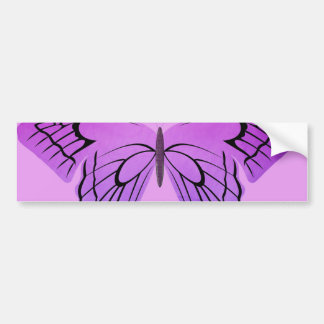 Schmetterling in den Schatten von Lila Autoaufkleber