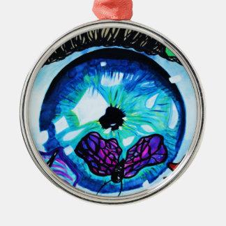 Schmetterling in Eyez Silbernes Ornament