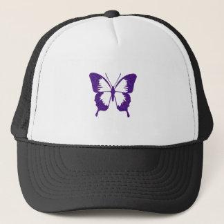 Schmetterling in metallischem Lila Truckerkappe