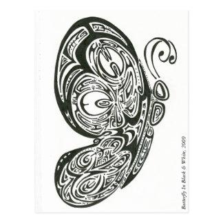 Schmetterling in Schwarzem u. in weißem, 2009 Postkarten