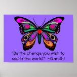 """Schmetterling """"ist die Änderung… """" Posterdruck"""