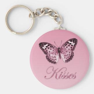 Schmetterling küsst Keychain Schlüsselanhänger