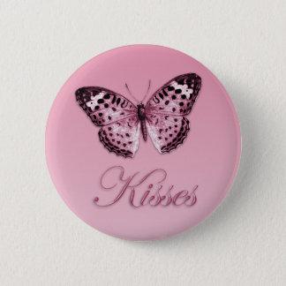 Schmetterling küsst Knopf Runder Button 5,7 Cm
