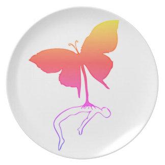 Schmetterling Melaminteller