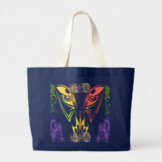 Schmetterling mit Blumen-Tasche Jumbo Stoffbeutel