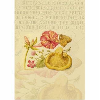 Schmetterling, Pilzund BlumeWatercolor Freistehende Fotoskulptur