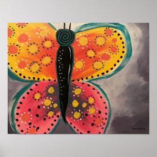 Schmetterling - Plakat