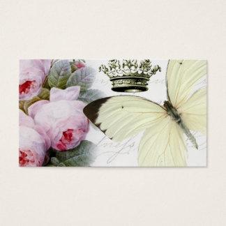 Schmetterling, Rosen und Krone Visitenkarte
