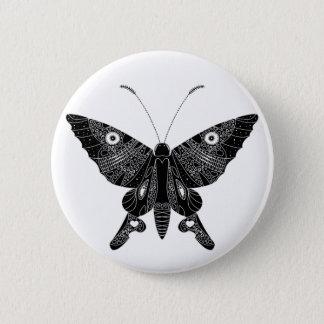 Schmetterling Runder Button 5,7 Cm
