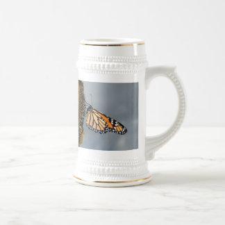 Schmetterling schüchtern bierglas
