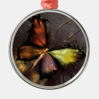 Schmetterling Silbernes Ornament