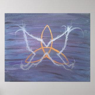 Schmetterling Triquetra Celtic-Knoten der Poster