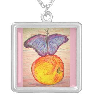 Schmetterling und Apple Versilberte Kette