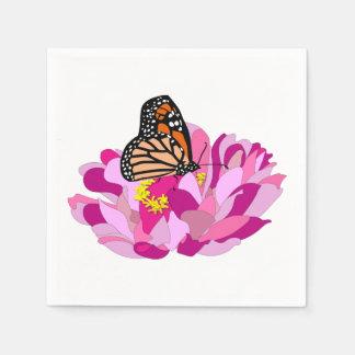 Schmetterling und Blume Serviette