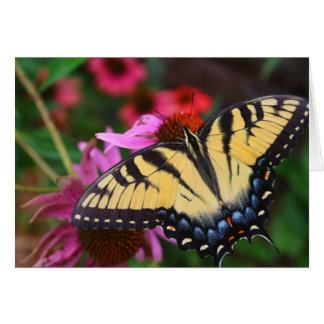 Schmetterling und Blumen Karte