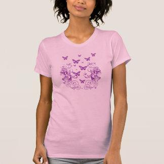 Schmetterling und Blumen T-Shirt