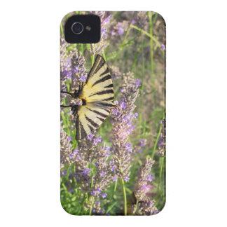 Schmetterling und Lavendel iPhone 4 Case-Mate Hülle