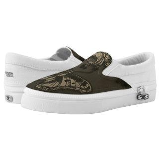 Schmetterling und Rose Slip-On Sneaker