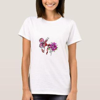 Schmetterling und Rose T-Shirt