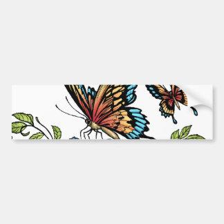 Schmetterling und Schmetterlinge farbenreich durch Autoaufkleber