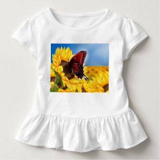 Schmetterling und Sonnenblume Kleinkind T-shirt