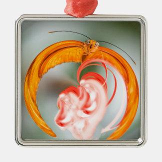 Schmetterling verantwortlich silbernes ornament