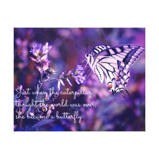 Schmetterling zitierte Leinwand