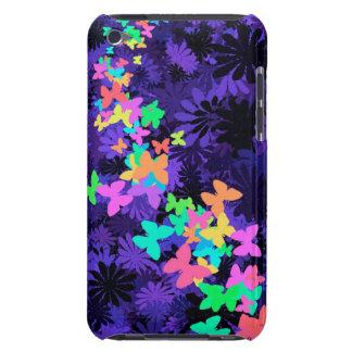 Schmetterlinge auf Blau+Bunt iPod Touch Etuis