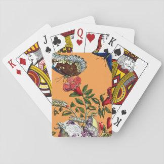 Schmetterlinge auf Granatapfel Spielkarten