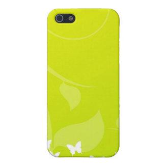 Schmetterlinge auf Grün und Gelb iPhone 5 Case