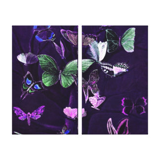 Schmetterlinge auf Lila Leinwanddruck