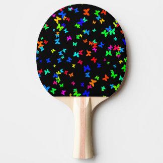 Schmetterlinge auf Schwarzem Tischtennis Schläger