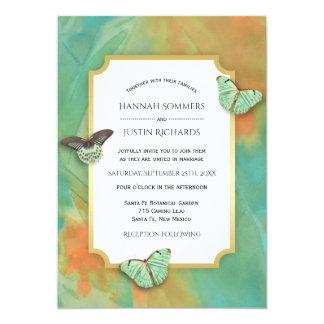 Schmetterlinge auf Südwesten färbt Hochzeit Karte