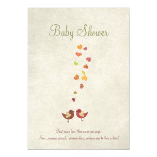 Schmetterlinge auf Vintager 12,7 X 17,8 Cm Einladungskarte