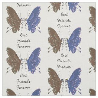 Schmetterlinge der besten Freunde personalisiert Stoff
