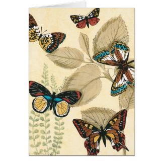 Schmetterlinge, die über Blätter gleiten Karte
