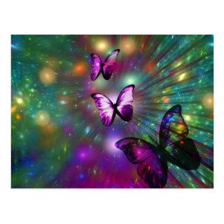 Schmetterlinge für immer postkarte