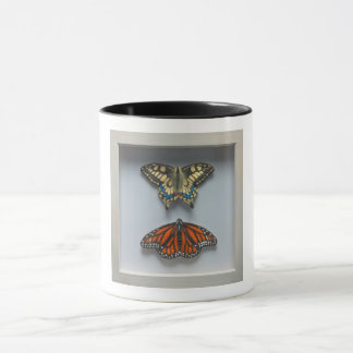 """Schmetterlinge """"in einem Rahmen"""" Entomologie-Tasse Tasse"""