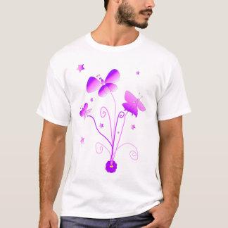 Schmetterlinge mit Blumen-T - Shirt