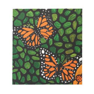 Schmetterlinge Notizblock