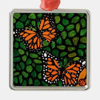 Schmetterlinge Silbernes Ornament