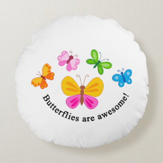 Schmetterlinge sind fantastisch rundes kissen