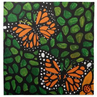 Schmetterlinge Stoffserviette