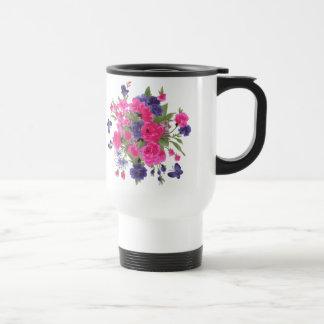 Schmetterlinge u. Blumen entwerfen Geschenk-Tasse Reisebecher