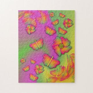Schmetterlinge u. Blumen Puzzle