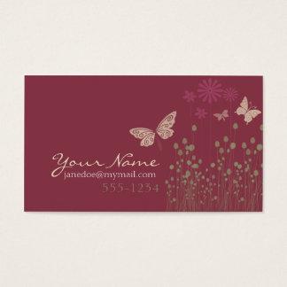 Schmetterlinge u. Blumen Visitenkarten