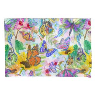 Schmetterlinge und Blumen Kissenbezug