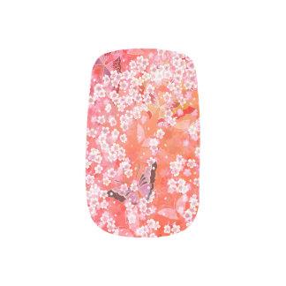 Schmetterlinge und Kirschblüte-Nagel-Kunst Minx Nagelkunst