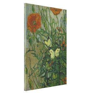 Schmetterlinge und Mohnblumen durch Vincent van Leinwanddruck